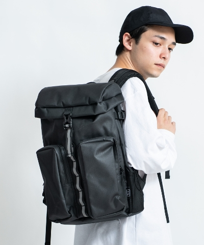 SOLID DOUBLE POCKET BACKPACK